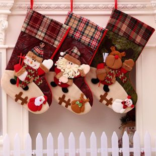 New Christmas Christmas Stocking Decorations Christmas Gift Bag Christmas Gift Bag NHMV182611's discount tags