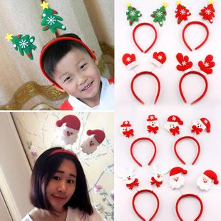 Christmas gift Christmas decoration Christmas hat Christmas head button NHMV182613's discount tags