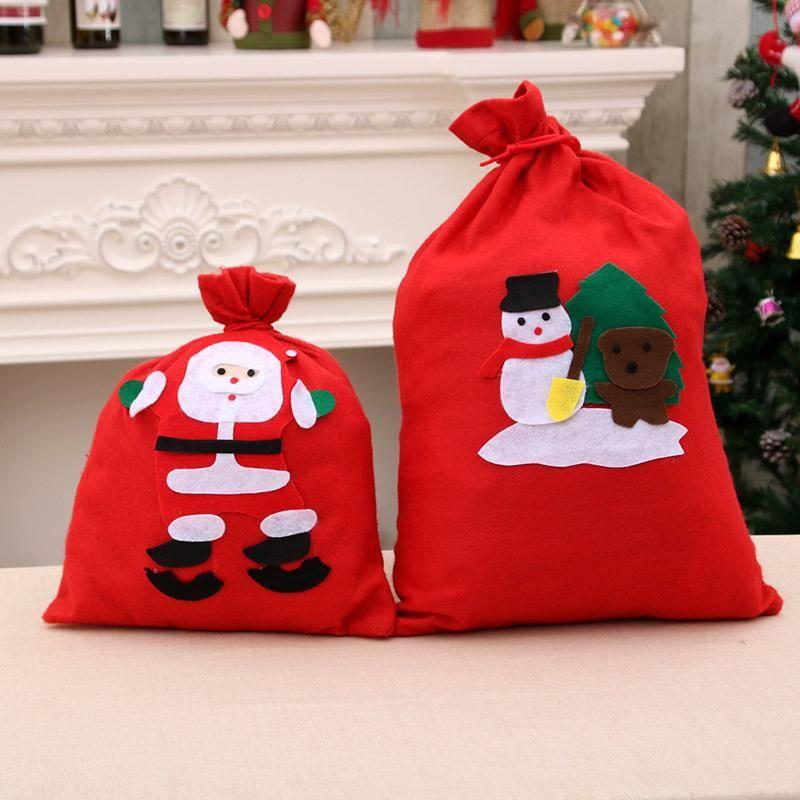 Christmas gift bag Santa backpack non-woven gift bag handmade decals NHMV182614