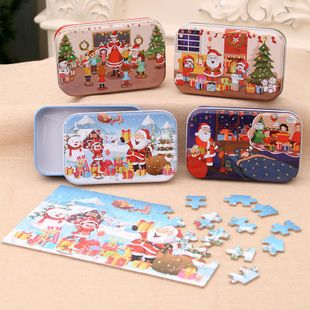 Christmas wooden diy small gift child handmade santa NHMV182612's discount tags