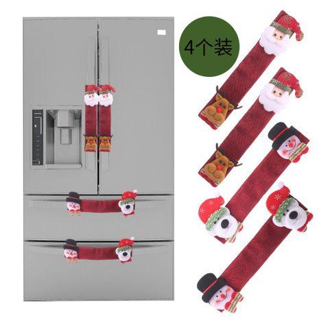 Suministros de decoración navideña guantes de horno microondas saco de tela refrigerador refrigerador guantes cubierta del horno NHHB182573's discount tags