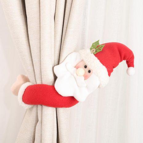 Nueva decoración de navidad suministros trompeta creativa cortina hebilla de dibujos animados anciano muñeco de nieve decoración de cortina de alces NHHB182574's discount tags