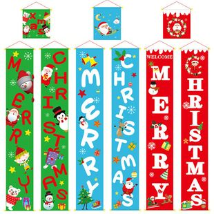 New style Christmas decoration supplies couplet hanging cloth hanging door hanging wholesale NHHB182576's discount tags