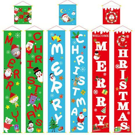 Nuevo estilo de decoración de Navidad suministros pareado colgando paño colgando puerta colgando al por mayor NHHB182576's discount tags