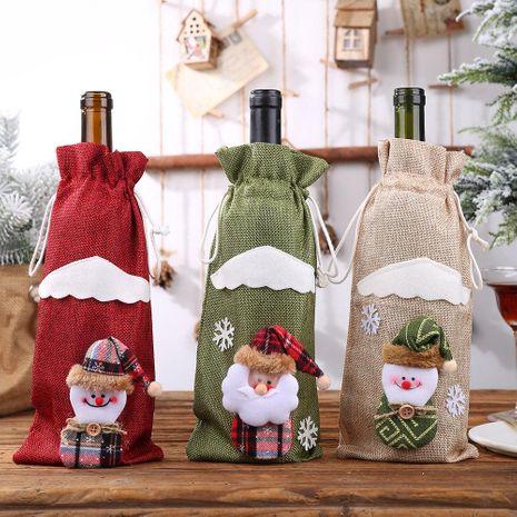 Decoraciones navideñas Juego de botellas navideñas Vino Botella de champán Bolsa Mesa de comedor Vestir NHHB182582's discount tags