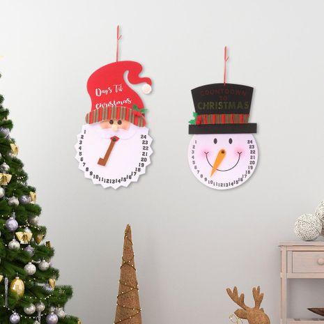 Nueva decoración de Navidad muñeco de nieve reloj despertador no tejido anciano reloj creativo reloj de pared reloj de péndulo NHHB182585's discount tags