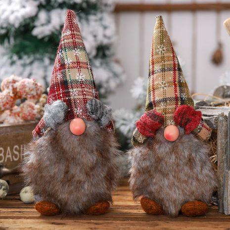 Nueva decoración navideña copos de nieve que cubre los ojos Muñeca sin rostro Decoración de marionetas de pie Decoración de anciano NHHB182588's discount tags