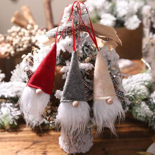 New Christmas Decoration Wine Bottle Cover Faceless Doll Wine Bottle Cap Santa Small Pendant Explosion NHHB182589's discount tags