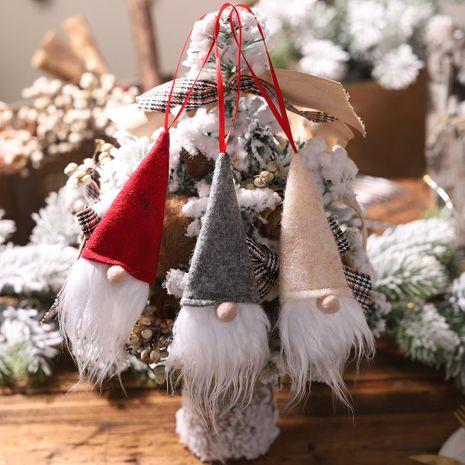 Nueva decoración de Navidad Botella de vino Tapa de muñeca sin rostro Tapa de botella de vino Santa Colgante pequeño Explosión NHHB182589's discount tags