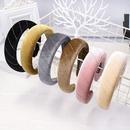 Models sponge headband autumn and winter models solid color velvet head buckle wholesale NHDM182698