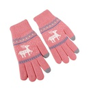 Jacquard double deer clothing accessories outdoor sports warm gloves wholesale NHDM182703
