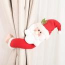 New Christmas decoration supplies trumpet creative curtain buckle cartoon elderly snowman elk curtain decoration NHHB182574