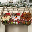 New Christmas decoration supplies 19 imitation bark gift bag creative threedimensional elderly snowman deer gift bag NHHB182587