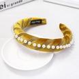 NHDM494279-Yellow-gold-velvet-pearl-sponge-headband