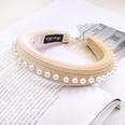 NHDM494308-Beige-Pearl-Sponge-Headband