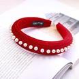 NHDM494310-Big-red-pearl-sponge-headband