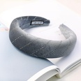 NHDM494361-Grey-velvet-sponge-headband