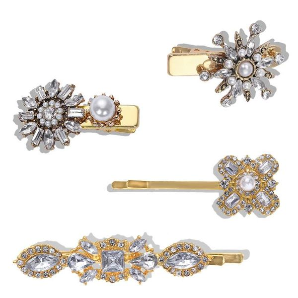 New alloy diamond hairpin simple temperament jewelry accessories fashion hair accessories wholesale NHJQ182949