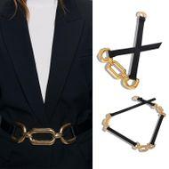 Cinturón de costura de tres círculos de aleación moda tiro cadena de cintura joyería atmosférica otoño e invierno nuevos accesorios de vestir NHJQ182943