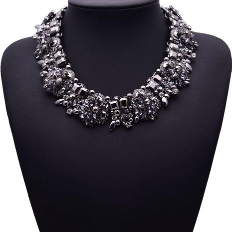 Necklace handmade diamond accessories women necklace clavicle chain jewelry wholesale black NHJQ182956's discount tags