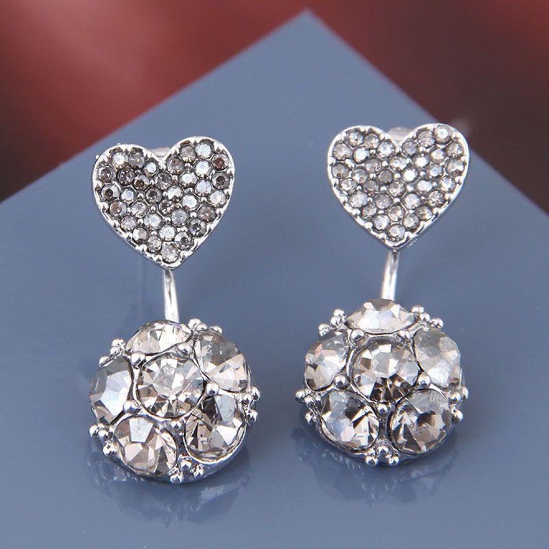 925 Silver Needle Korean Fashion Sweet OL Studded Individual Stud Earrings NHSC182833