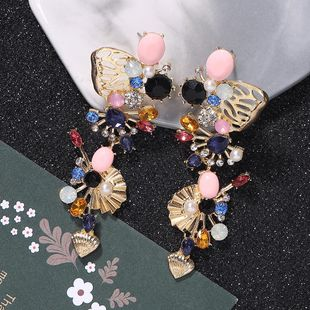 Alloy diamond earrings exquisite small earrings fashion street shooting earrings accessories NHJQ182945's discount tags
