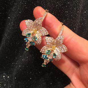 Fashion luxury circle flower spike earrings  NHWK182854's discount tags