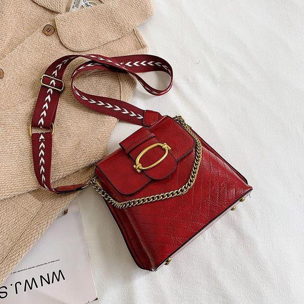 Bolso de mensajero de las señoras Bolso de hombro de la cadena de mano casual occidental de la nueva moda Bolso de hombro NHTC183130