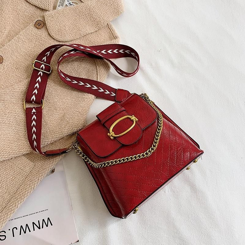 Ladies Messenger Bag New Fashion Western Casual Chain Hand Bucket Bag Shoulder Bag NHTC183130