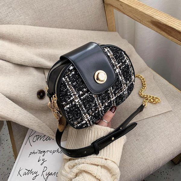 New Chain Mini Crossbody Small Round Bag Bolso de hombro con diamantes para mujer NHPB183042