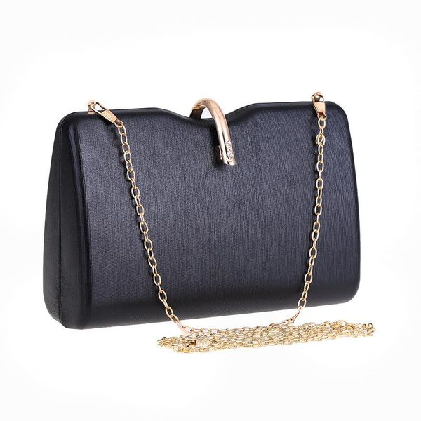 Women's Clutch Hard Box Small Square Bag Dinner Bag Shoulder Diagonal PU Bag NHYG183006