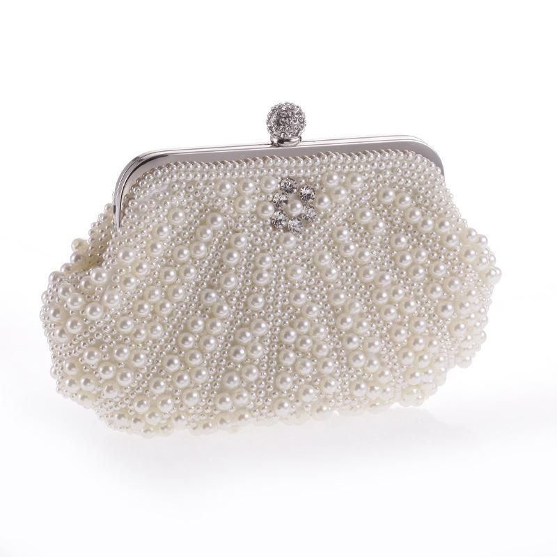 Wholesale new pearl bag sweet lady fashion hand beaded handbag gorgeous commute NHYG183009