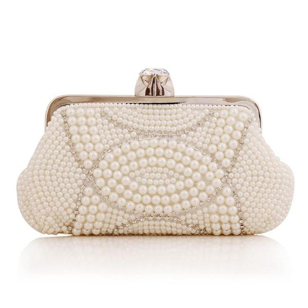 Beaded pearl bag evening banquet bag diamond dress bag clutch fashion style women bag NHYG183017