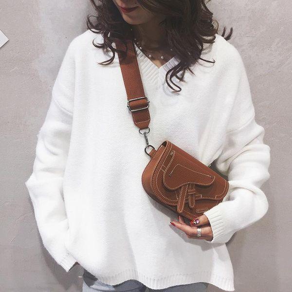 New Pistol Saddle Bag Vintage Fashion Embroidered Solid Mini Shoulder Crossbody NHPB183037