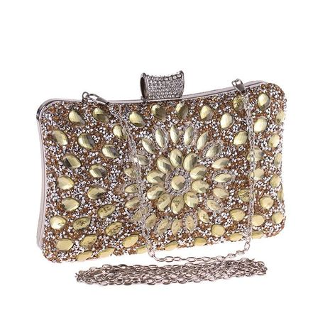 Bags New Europe and the United States Dinner Party Reception Bag Glass Diamond Evening Bag Banquet Women's Clutch NHYG182995's discount tags