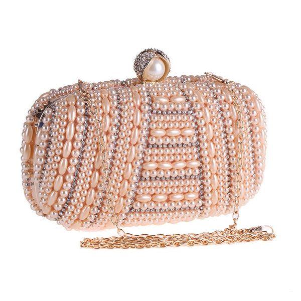 Bags Women's New Handmade Pearl Rhinestone Bag Wholesale Evening Banquet Bag Evening Bag NHYG183000