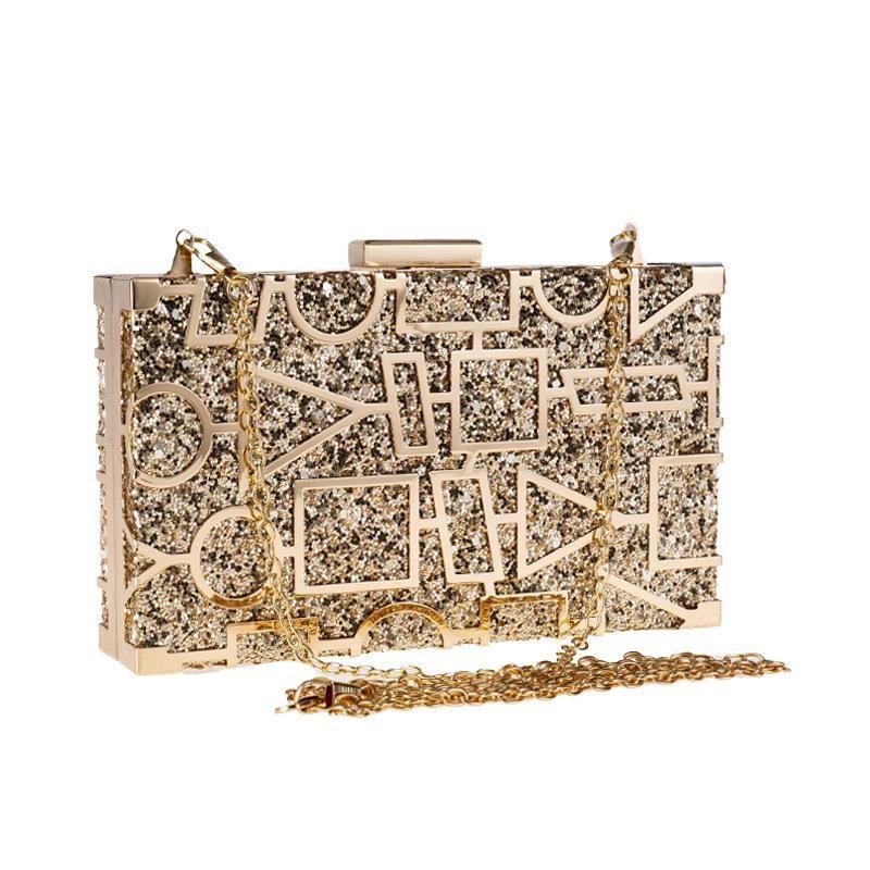 Party Bag Handbag Banquet Bag Hollow Diamond Dinner Bag Red Carpet Chain Clutch NHYG183015
