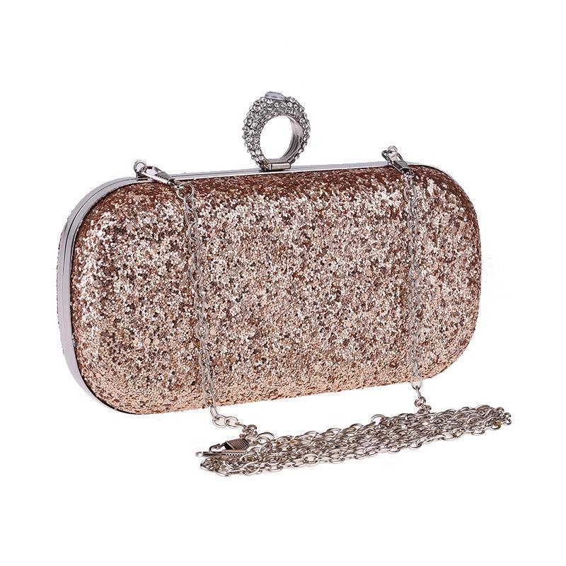 Dinner bag with diamond clutch, super flash ring bag, hard box, small square bag, chain, women bag NHYG183021