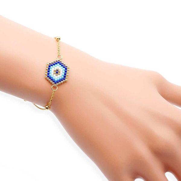 Blue Turkish Evil Eye Miyuki Braided Bracelet Eyes NHGW175077