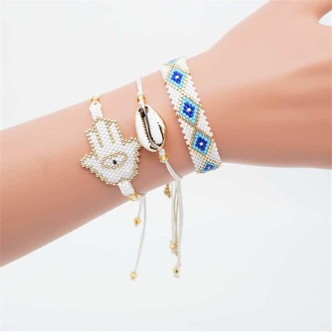Fashion rice beads woven palm bracelet NHGW175107's discount tags