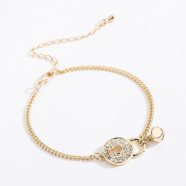 Fashion lock bell bracelet gold NHLL175016
