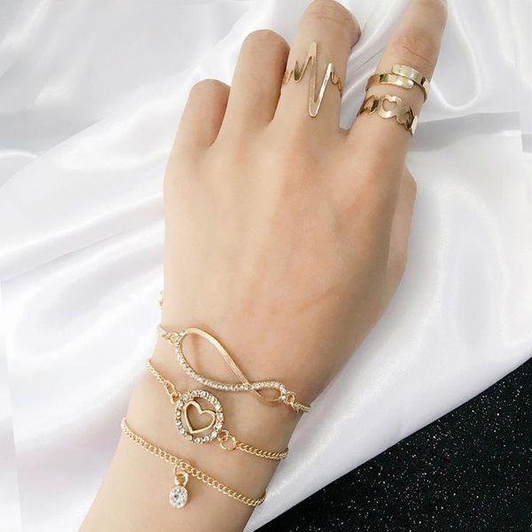 Fashion wild love ring bracelet set jewelry simple temperament jewelry NHPV175166