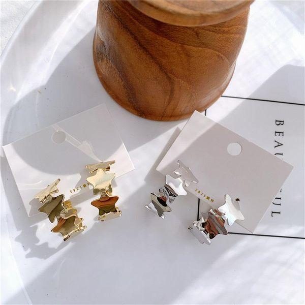 Pendiente de estrella de cinco puntas con viento frío suave de metal NHYQ174974