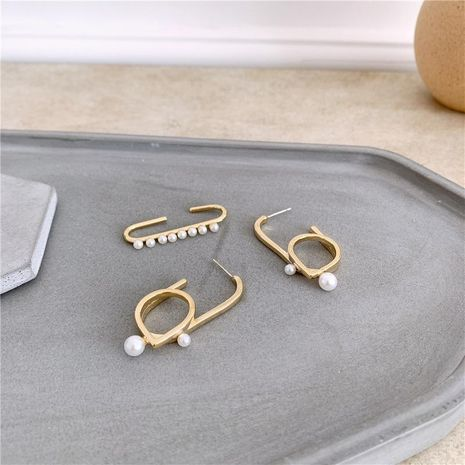 925 silver needle ear hanging fashion temperament paper clip without pierced pearl NHYQ174976's discount tags