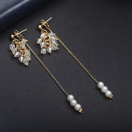 Long earrings pearl tassel NHPF174926's discount tags