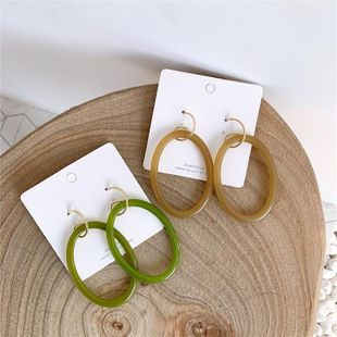 Acrylic long temperament earrings retro hollow S925 silver needle NHYQ174986's discount tags