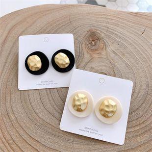 Matte texture acrylic metal earrings femininity NHYQ174987's discount tags