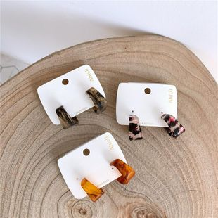 Acrylic arc earrings female fashion leopard temperament NHYQ174990's discount tags