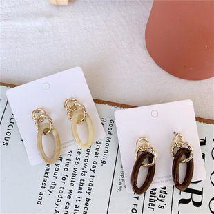 Acrylic ear temperament metal earrings NHYQ174995's discount tags