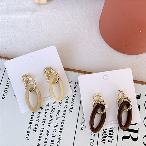 Acrylic ear temperament metal earrings NHYQ174995's discount tags